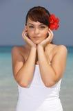 Woman at Caribbean Stock Image