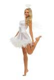 Woman in carnival costume.  Angel  shape Stock Photo