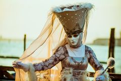 Woman in Carnival Costume Royalty Free Stock Images