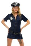 Woman in carnival costume.  Police woman shape Stock Photo