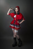 Woman in carnival costume. Sexy Little Red Riding Stock Photography