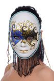 Woman with carnival mask Royalty Free Stock Photo