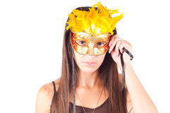 Woman in carnival mask Stock Photography