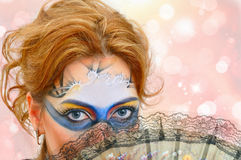 Woman in carnival mask Stock Image