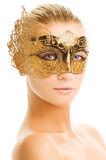 Woman with carnival mask Stock Photography