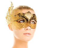Woman with carnival mask Royalty Free Stock Photos