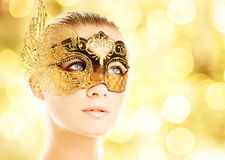 Woman in carnival mask Stock Photo