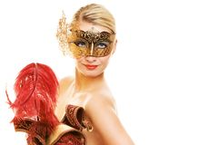 Woman with carnival mask Stock Photo
