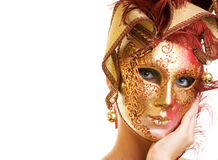Woman in carnival mask Royalty Free Stock Photos