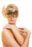 Woman with carnival mask Royalty Free Stock Photography
