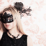 Woman in the Carnival mask Stock Photo