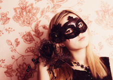Woman in the Carnival mask Stock Images