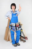 Woman carpenter Stock Images