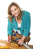 Woman carpenter Stock Photos