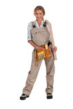 Woman carpenter Stock Photography