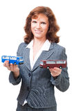 Woman from carrier company Royalty Free Stock Photos