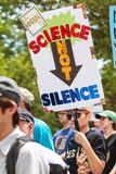 Woman Carries Sign In Earth Day Atlanta March For Science Royalty Free Stock Photo