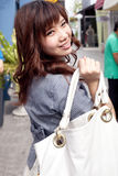 Woman carry bag shopping. Royalty Free Stock Image