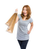 Woman carry shopping bag Stock Photography