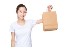 Woman carry with shopping bag Royalty Free Stock Photos
