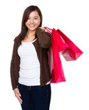 Woman carry with shopping bag Royalty Free Stock Images
