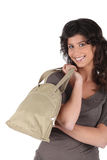 Woman Carrying A Bag In Her Hand Royalty Free Stock Photo