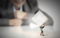 Woman carrying cube Stock Photography