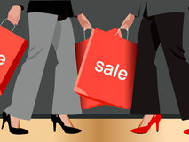 Woman carrying shopping bag Stock Image