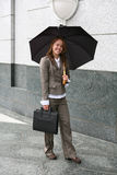 Woman Carrying Umbrella Royalty Free Stock Image