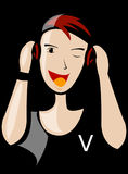 Woman, Cartoon, Art, Smile Stock Photos