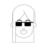 Woman cartoon icon Royalty Free Stock Photos