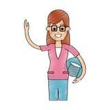 Woman cartoon icon Royalty Free Stock Photo