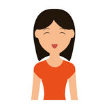 Woman cartoon icon. Person design. Vector graphic royalty free illustration