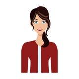 Woman cartoon icon Stock Image