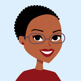 Woman cartoon portrait Royalty Free Stock Photo