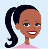 Woman cartoon portrait Royalty Free Stock Image