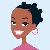 Woman cartoon portrait Royalty Free Stock Photography