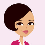 Woman cartoon portrait Royalty Free Stock Photos