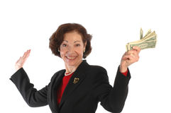 Woman with cash 807 Royalty Free Stock Photo