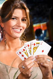 woman at the casino Stock Photos