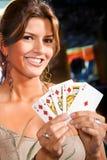 woman at the casino Stock Photos