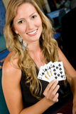 Woman at the casino Stock Image