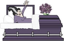 Woman In Casket Stock Image