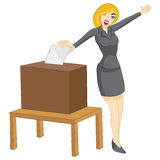 Woman Casting Vote Royalty Free Stock Photos