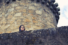 Woman in a Castle Royalty Free Stock Image