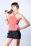 Woman in casual clothes Royalty Free Stock Images