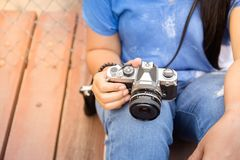 Leisure Time with Photography Stock Image