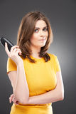 Woman casual style portrait Royalty Free Stock Image