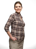 Woman casual style portrait Royalty Free Stock Photography