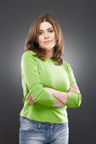 Woman casual style portrait Royalty Free Stock Photos